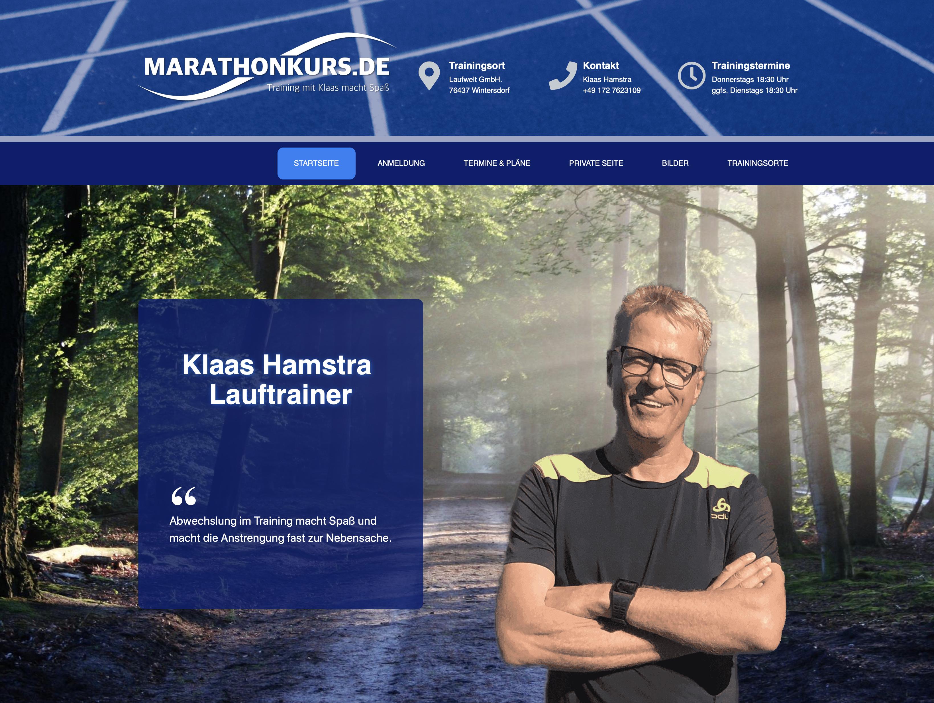 marathonkurs.de Homepage